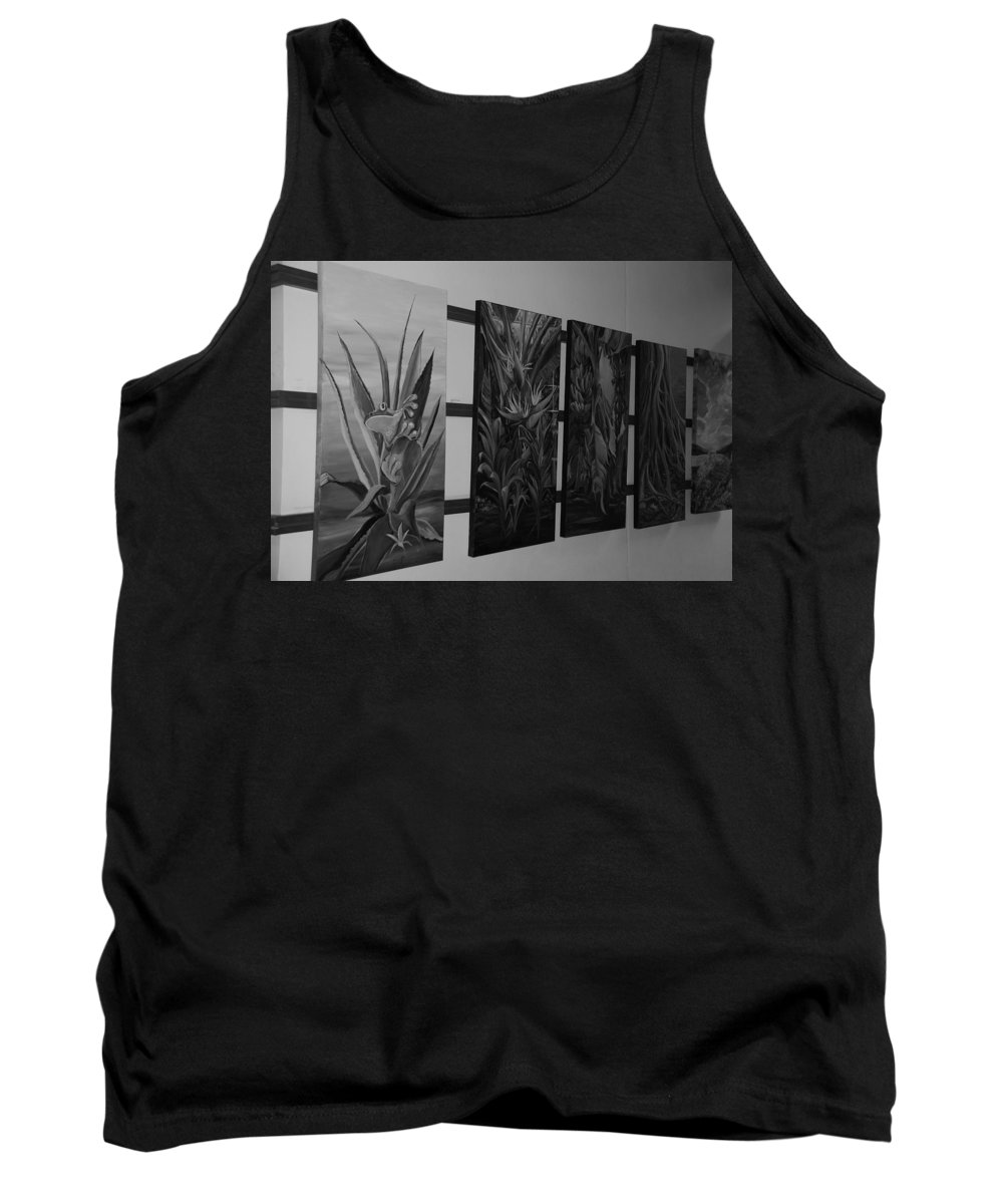 Black And White Tank Top featuring the photograph Hanging Art by Rob Hans