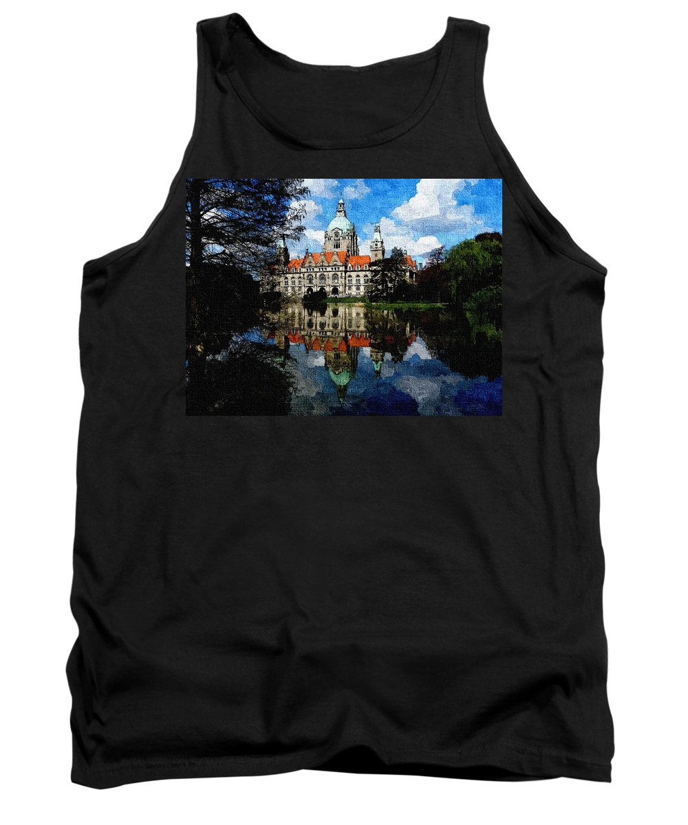 Announcement Tank Top featuring the painting Hanover Germany Catus 1 No. 1 H B by Gert J Rheeders