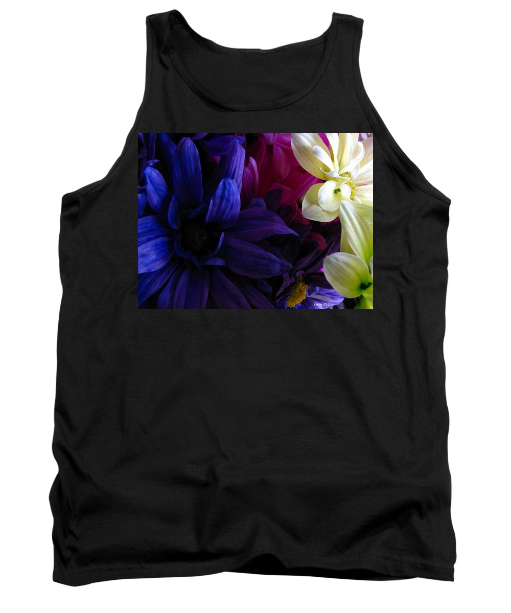 Patzer Tank Top featuring the photograph Happy Flowers by Greg Patzer