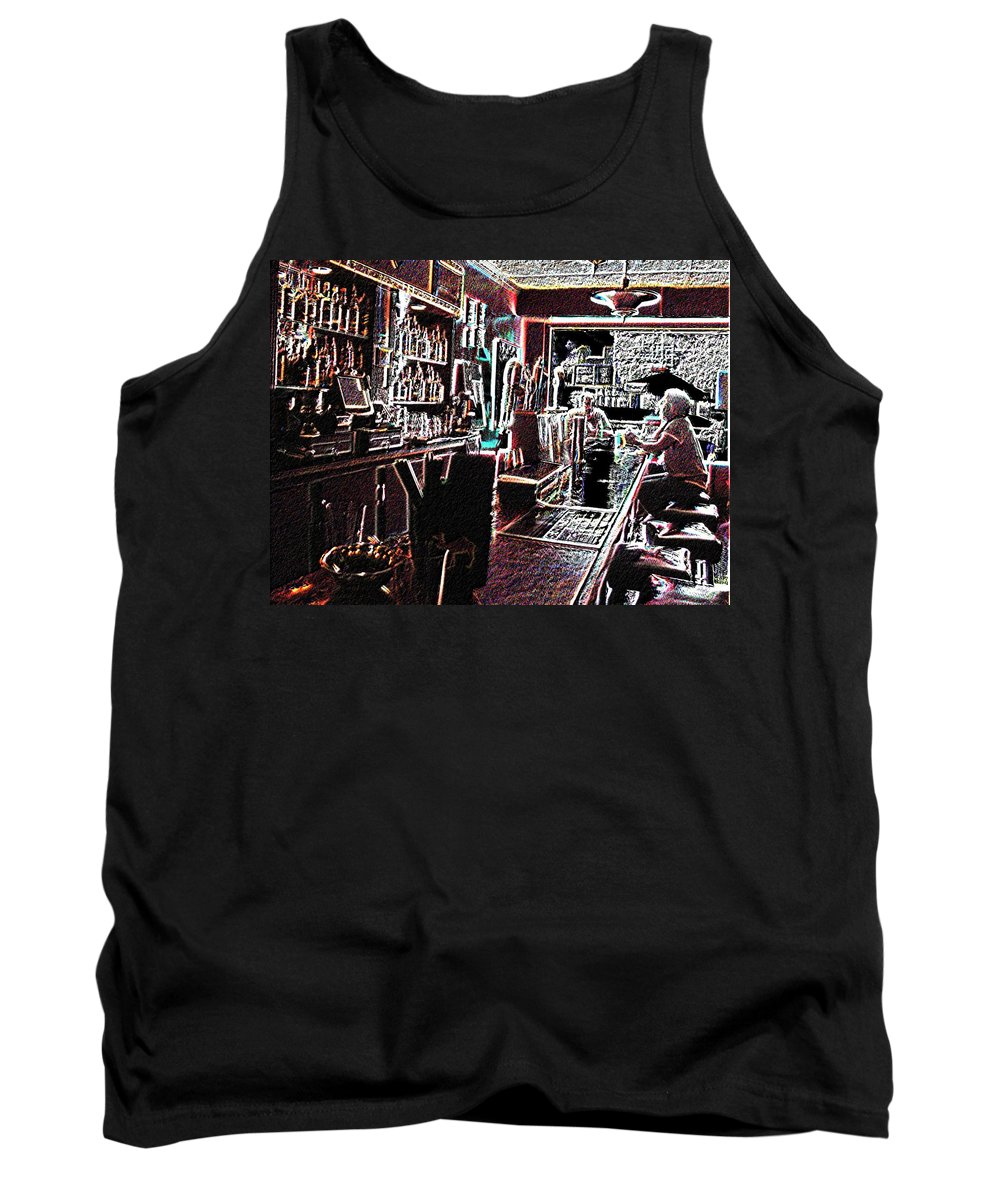 Bar Tank Top featuring the photograph Happy Hour by Tim Allen
