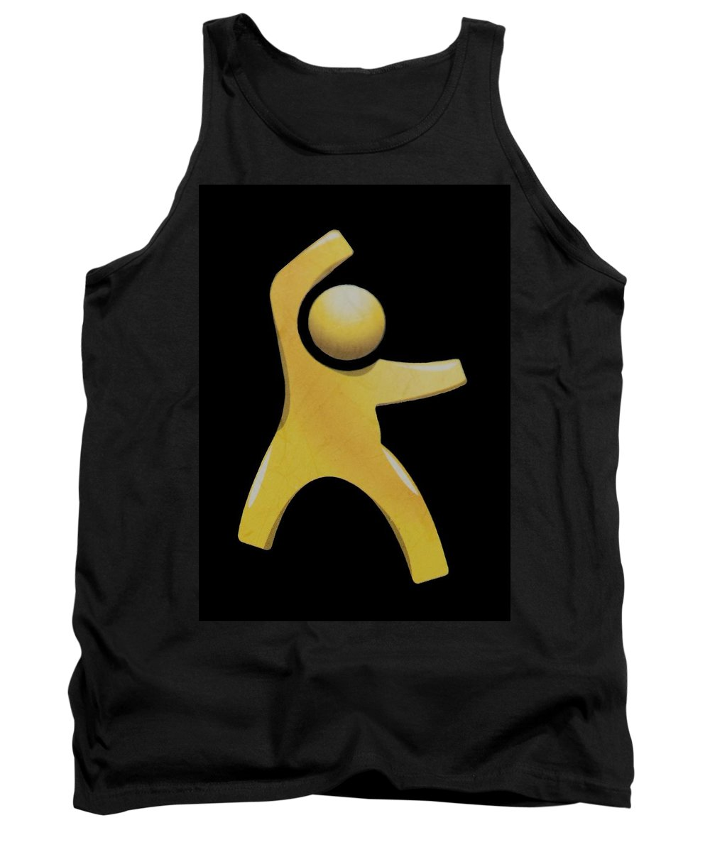 Man Tank Top featuring the photograph Happy Man by Rob Hans