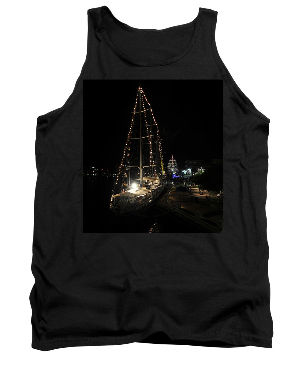 Tampa Bay Florida Tank Top featuring the photograph Harbor Night by David Lee Thompson
