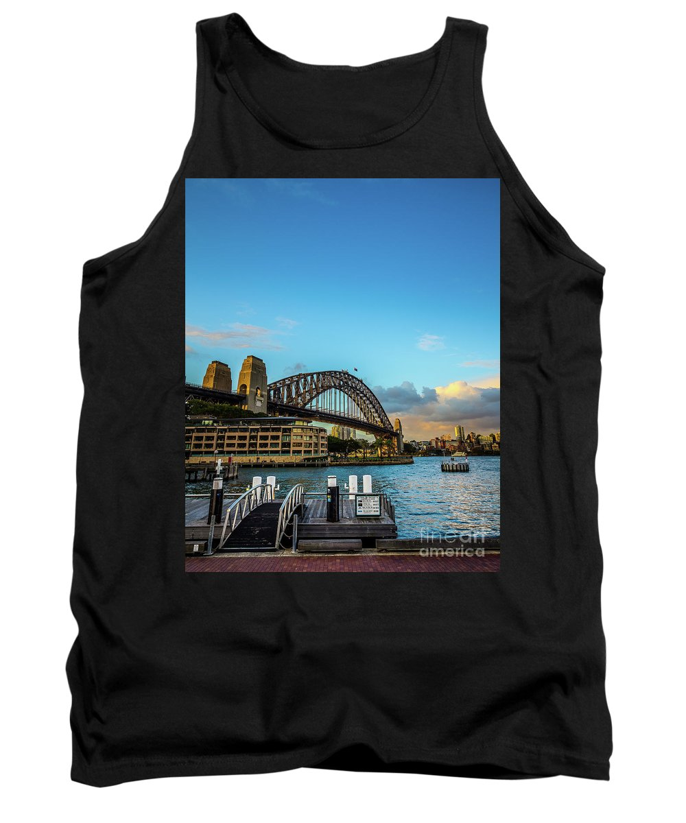 Ocean Tank Top featuring the photograph Harbour Sky by Perry Webster