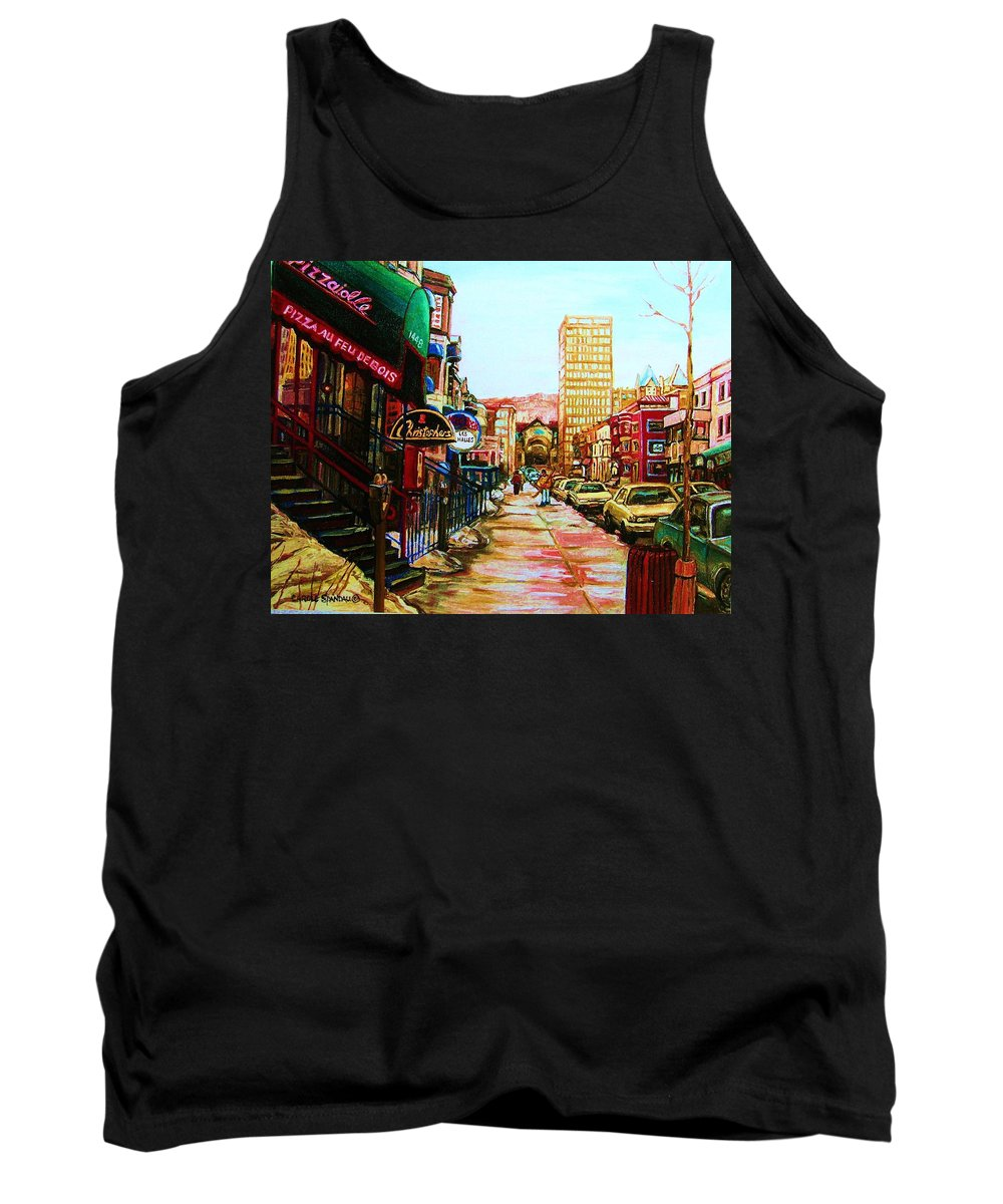 Hardrock Cafe Tank Top featuring the painting Hard Rock Cafe by Carole Spandau