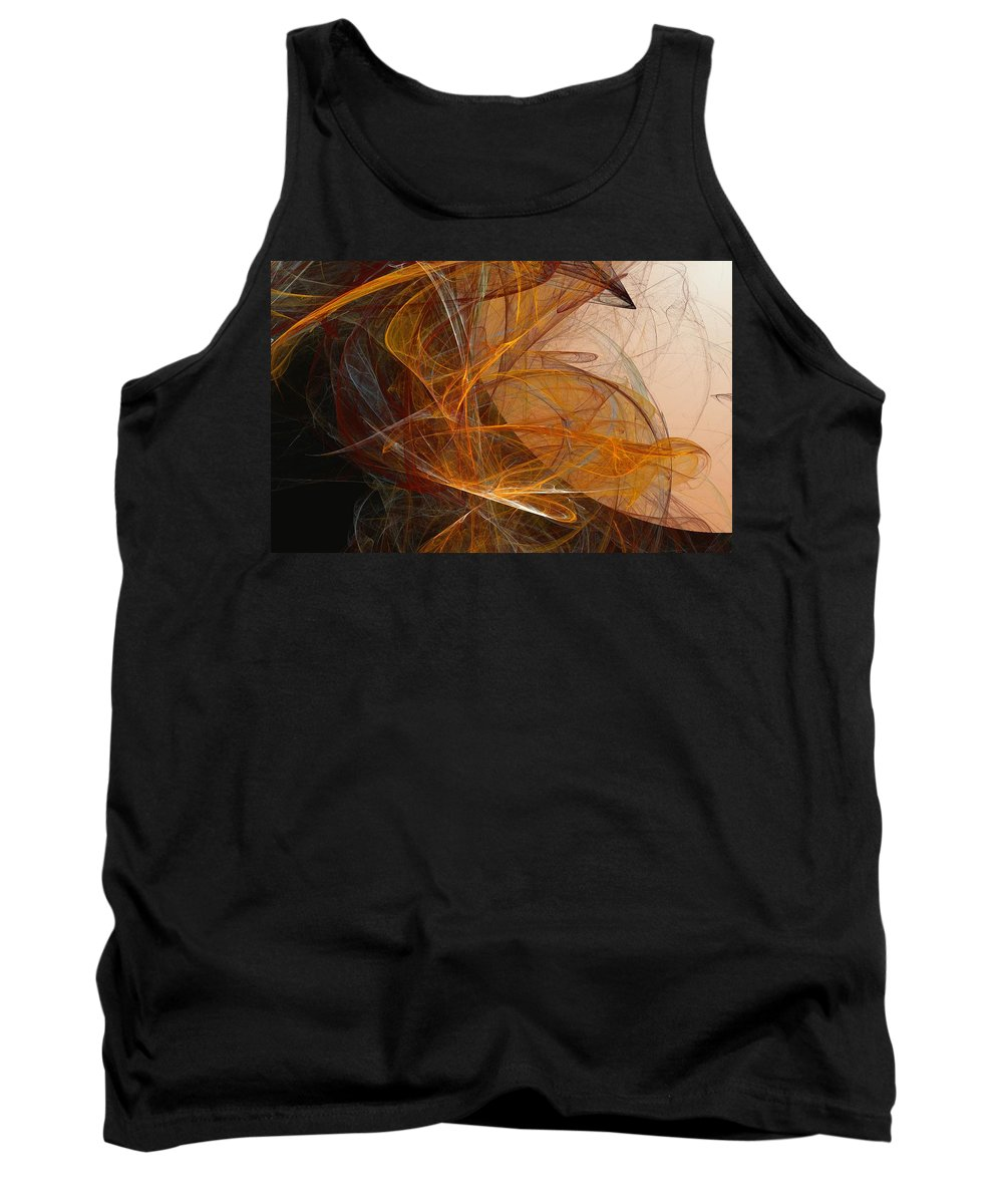 Abstract Expressionism Tank Top featuring the digital art Harvest Moon by David Lane