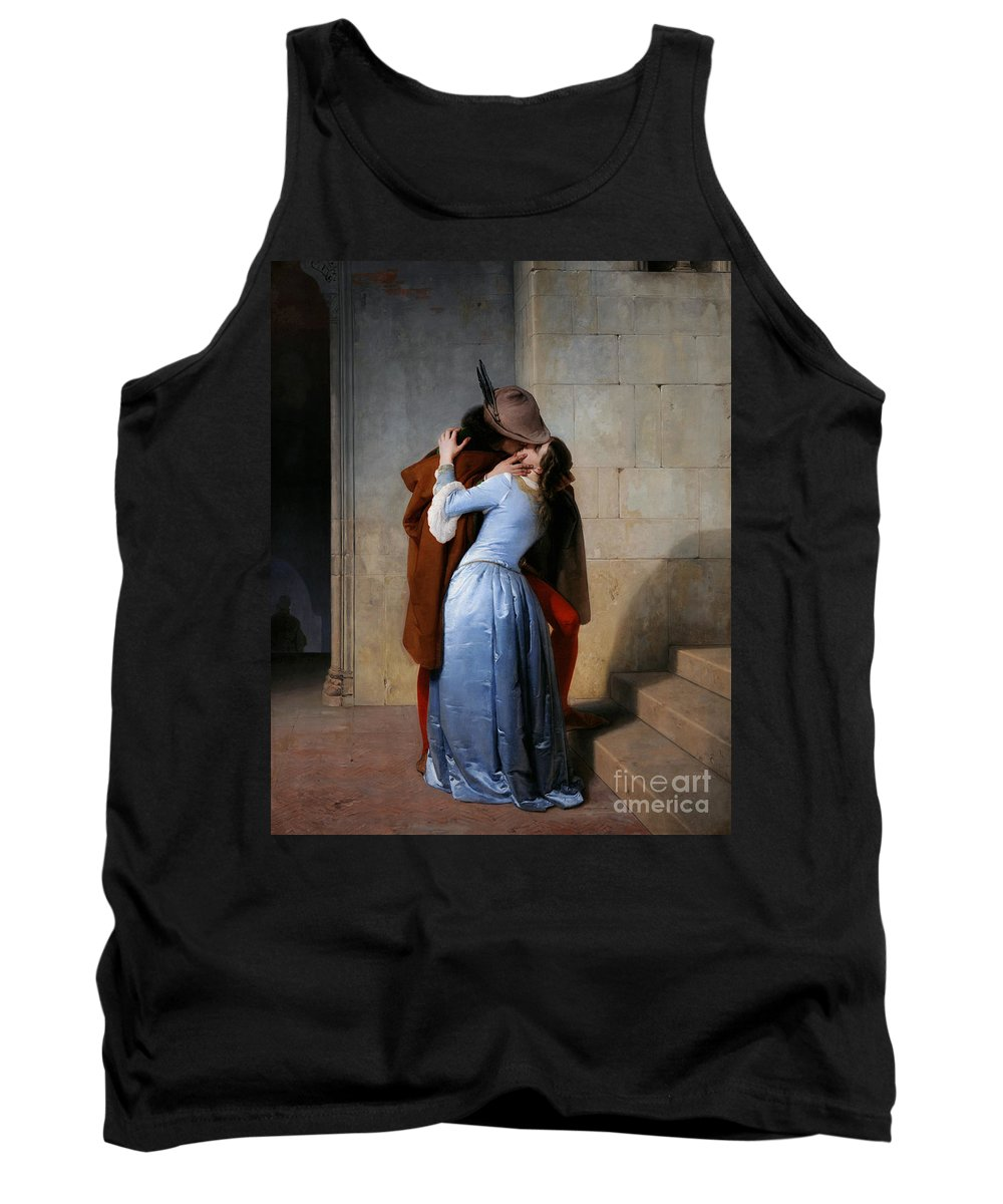 19th Century Tank Top featuring the painting Hayez, The Kiss by Granger