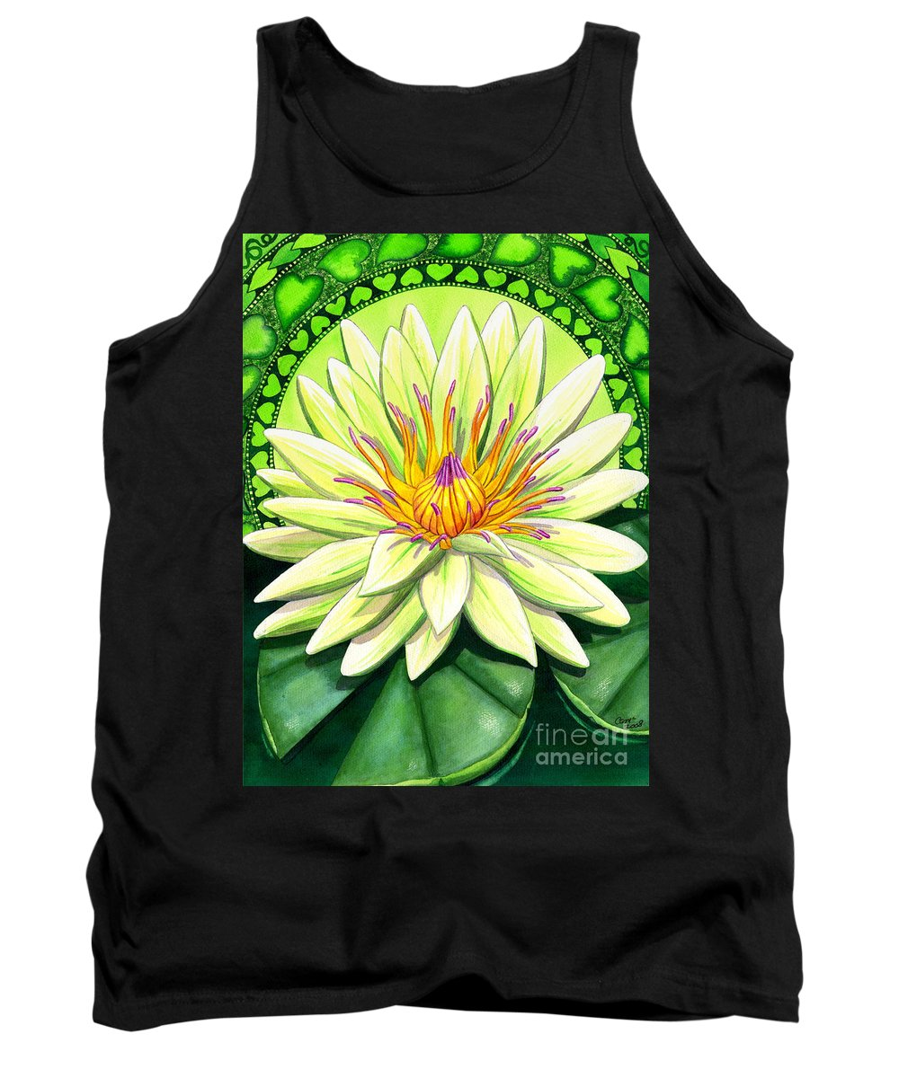 Heart Tank Top featuring the painting Heart Chakra by Catherine G McElroy