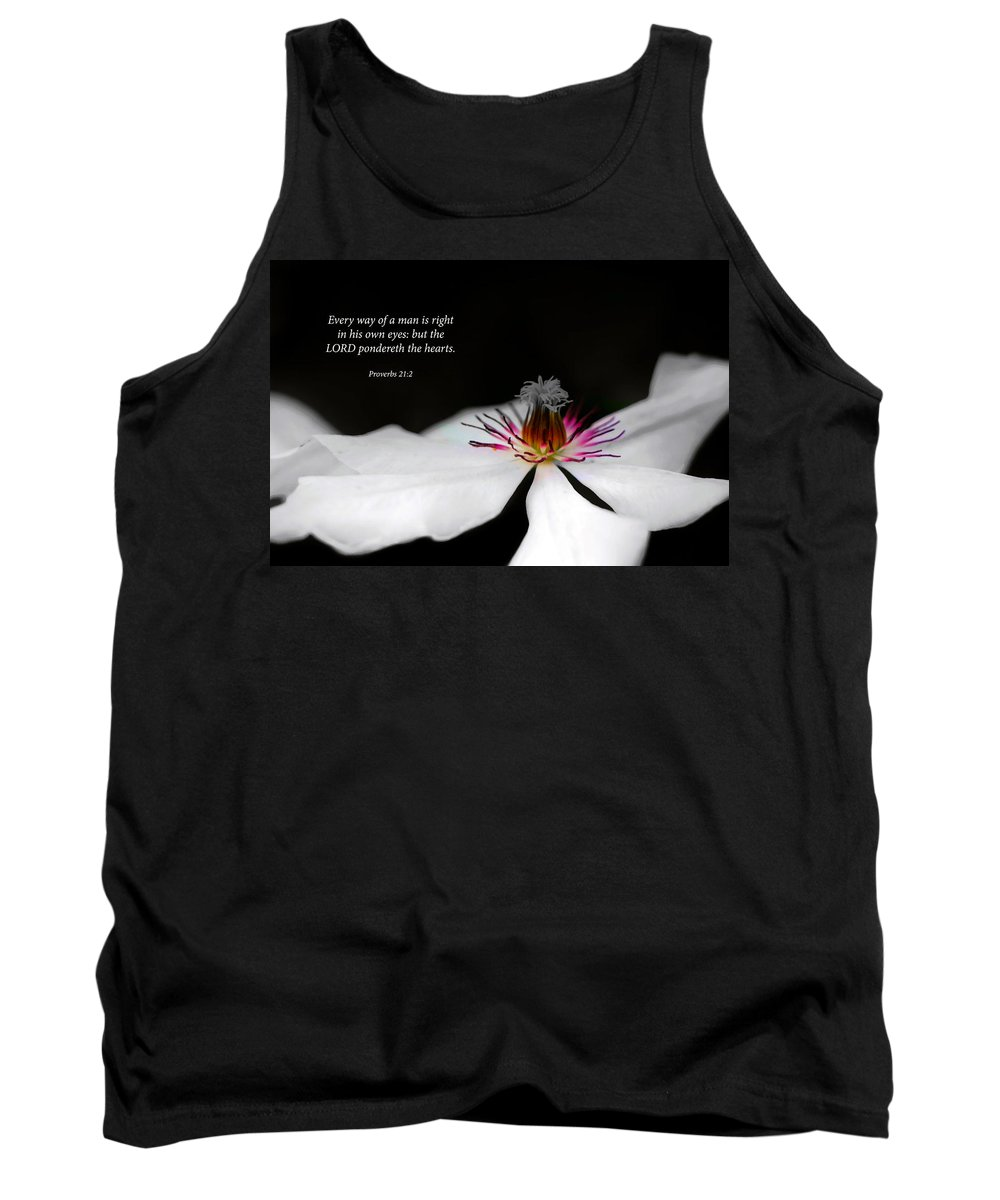 Floral Tank Top featuring the photograph Heart by Debbie Nobile