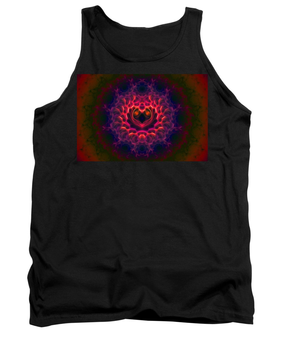 Fractal Tank Top featuring the digital art Heart Of Darkness by Lyle Hatch