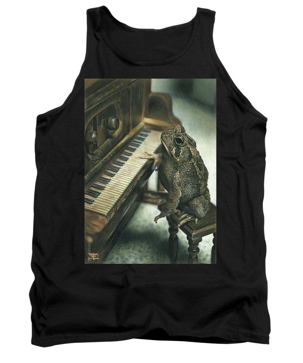 Heart Tank Top featuring the drawing Heart Of The Symphony by Cara Bevan