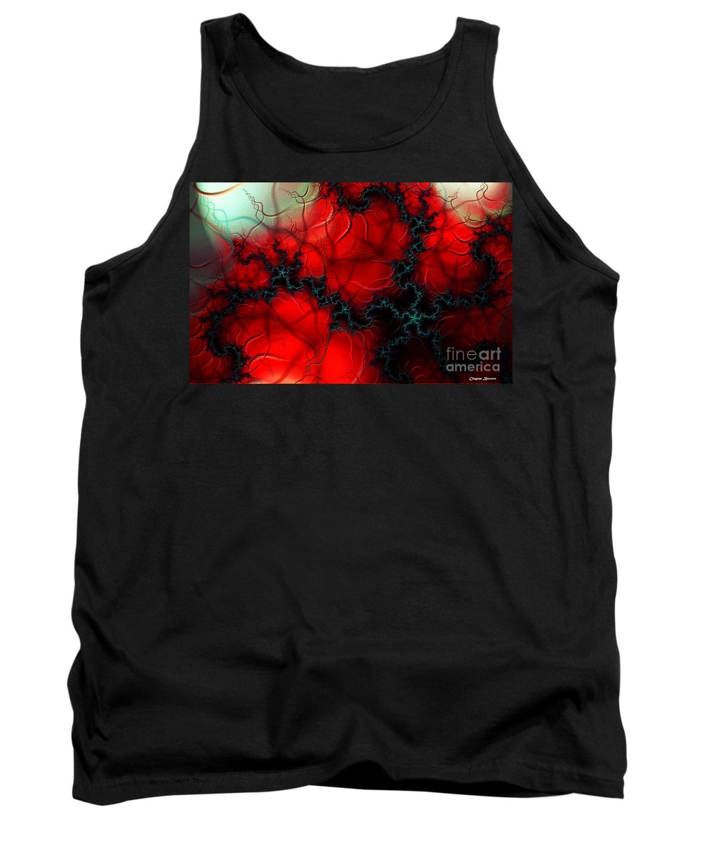 Clay Tank Top featuring the digital art Heart Pulse by Clayton Bruster