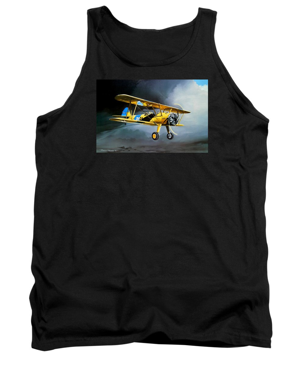 Military Tank Top featuring the painting Here Comes The Sun by Marc Stewart