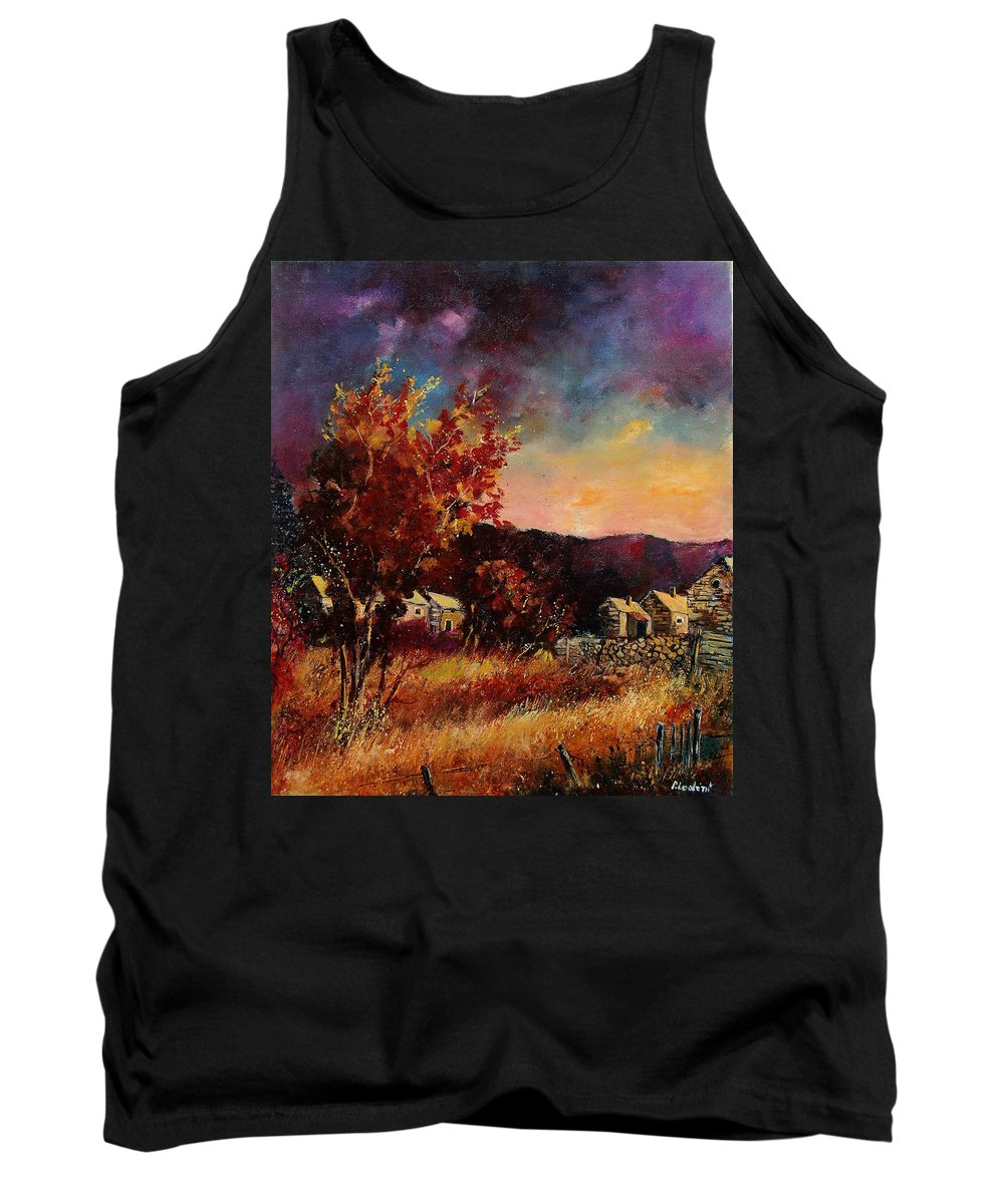 Tree Tank Top featuring the painting Herhet by Pol Ledent