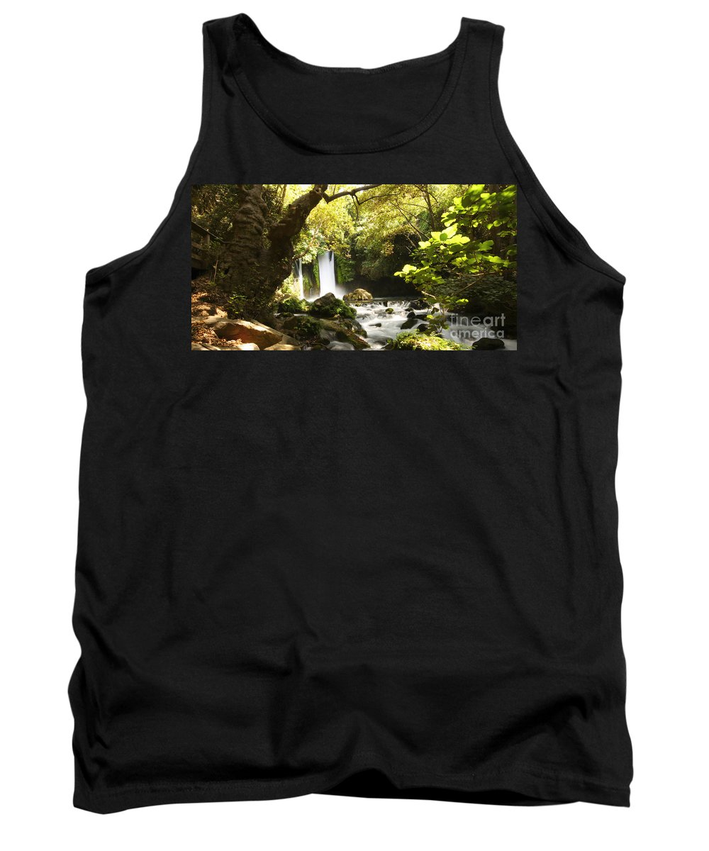 Hermon Tank Top featuring the photograph Hermon Stream Nature Reserve Banias by Alon Meir