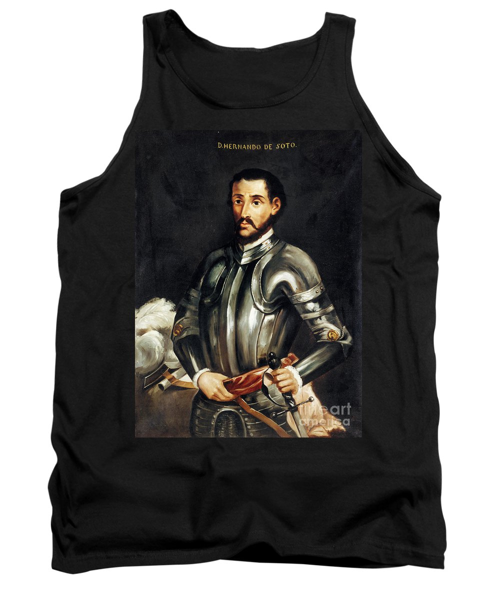 16th Century Tank Top featuring the painting Hernando De Soto by Granger