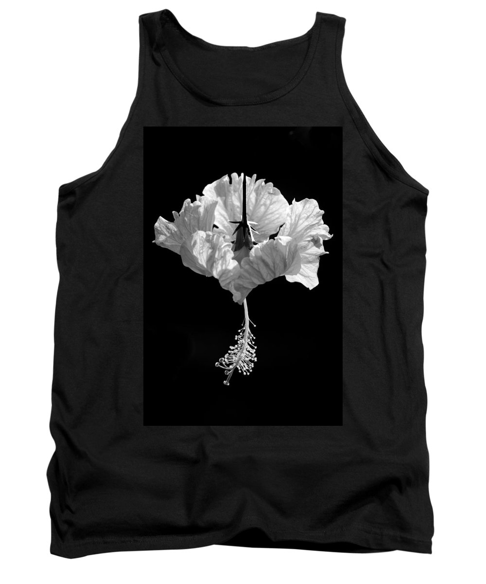 Black Tank Top featuring the photograph Hibiscus As Art 2 by Hitendra SINKAR