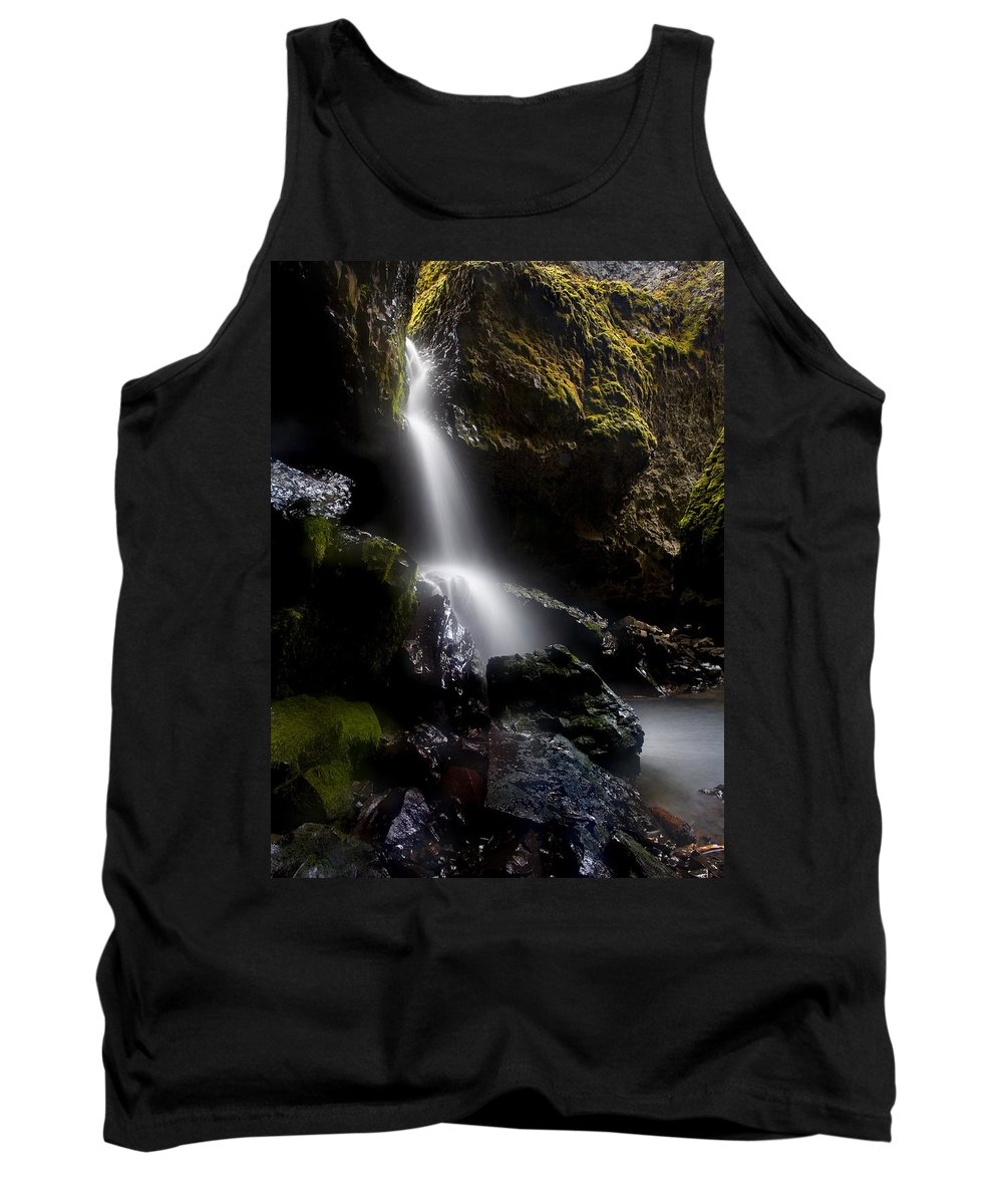 Waterfall Tank Top featuring the photograph Hidden Falls by Mike Dawson