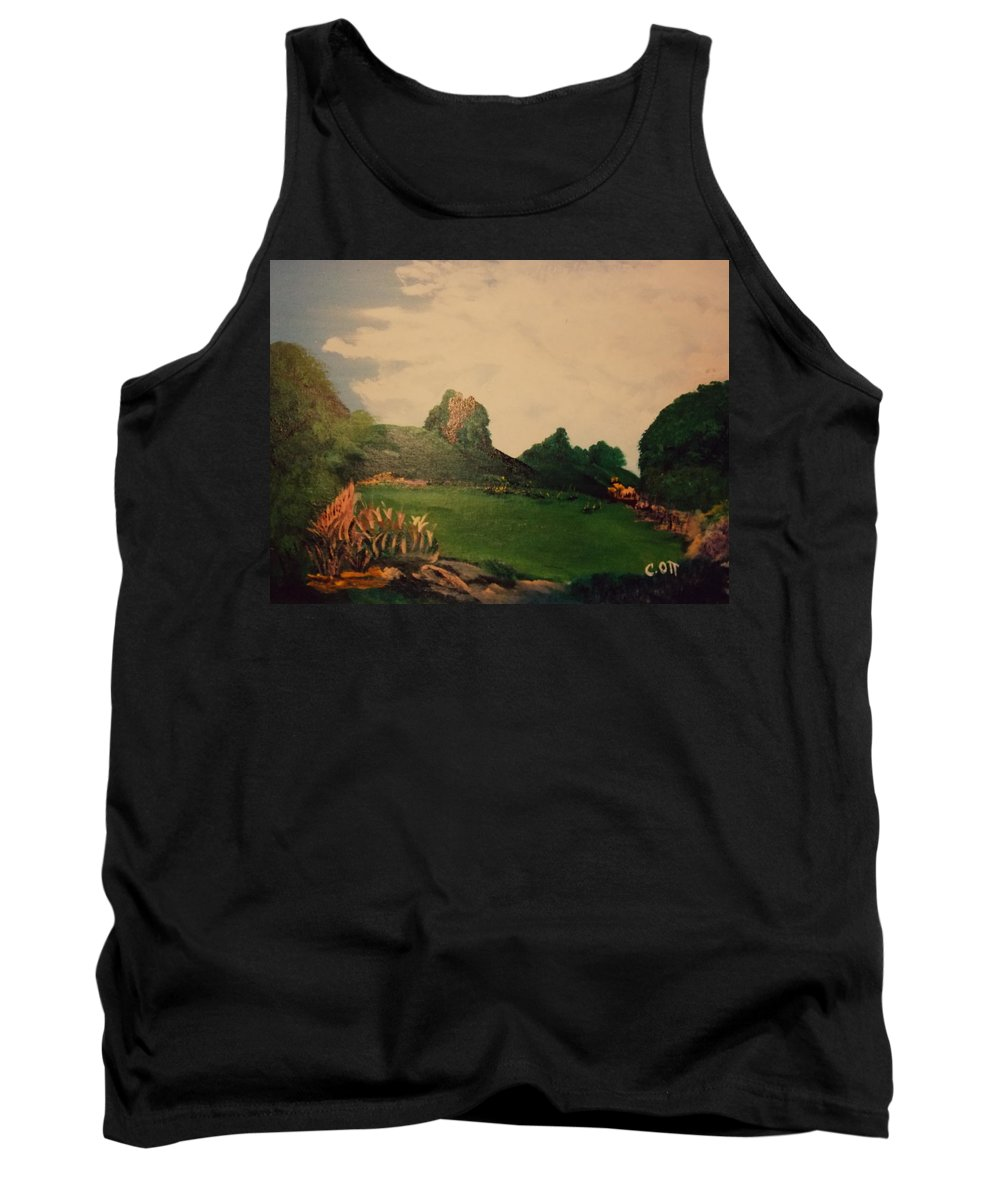 Flowers Tank Top featuring the painting Hidden Meadow by Calvin Ott