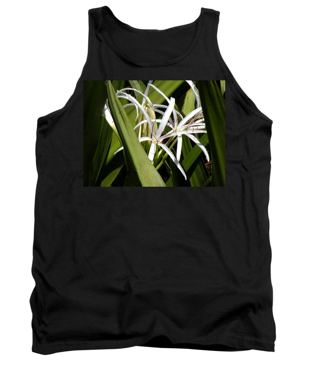 Flowers Tank Top featuring the photograph Hidden Swamp Lily by Rosalie Scanlon