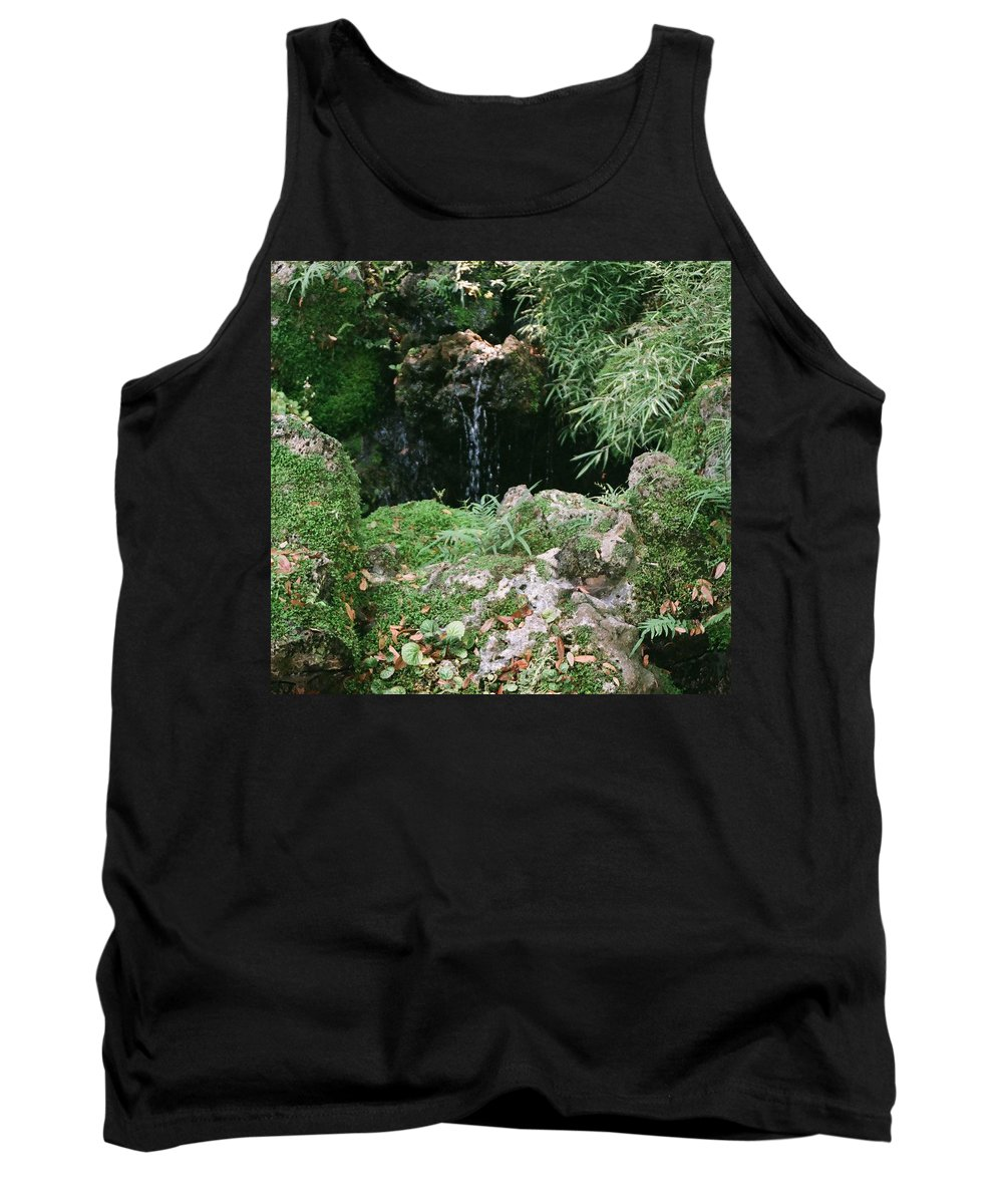 Nature Tank Top featuring the photograph Hidden Waterfall by Dean Triolo