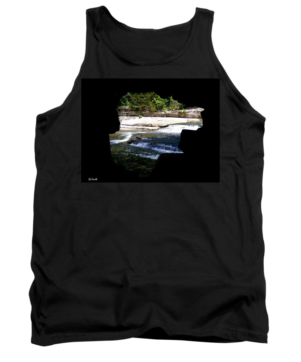 The Hide Away Tank Top featuring the photograph Hide Away by Ed Smith