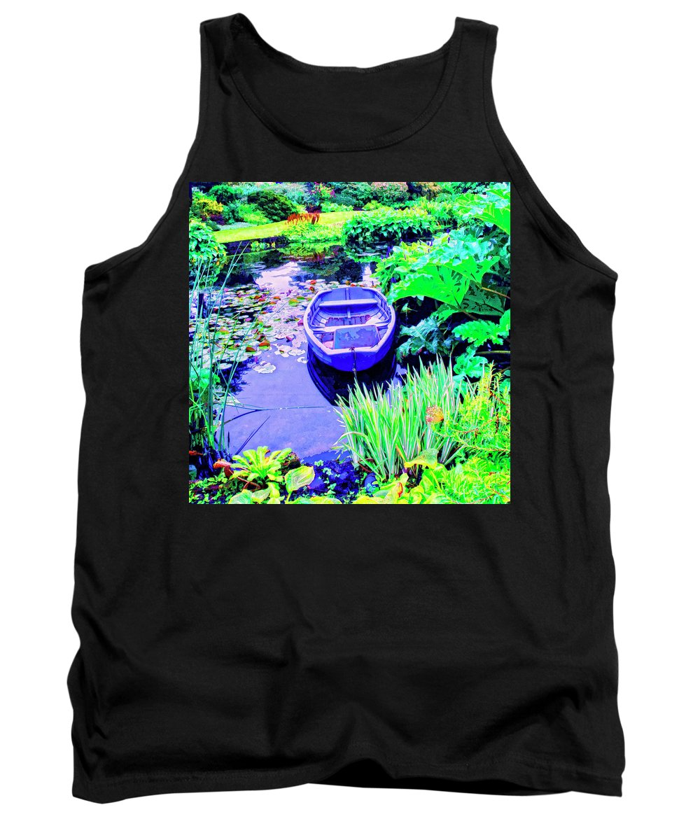 Hideaway Tank Top featuring the mixed media Hideaway by Dominic Piperata