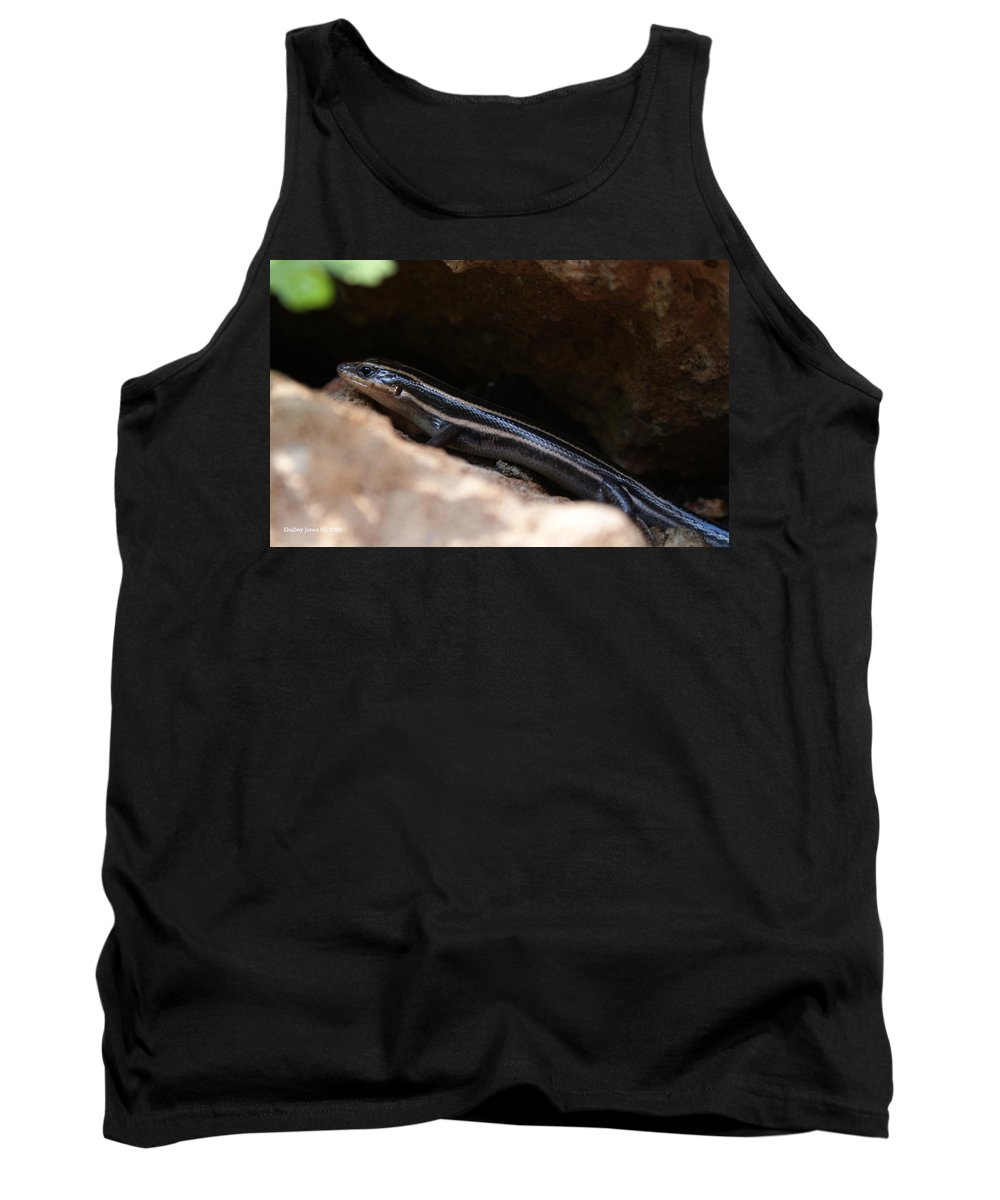 Lizard Tank Top featuring the photograph Hiding Out by Shelley Jones