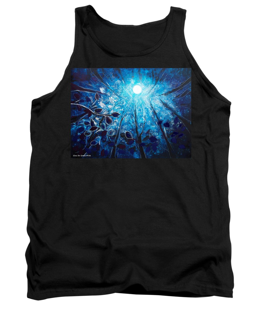 Night Tank Top featuring the painting High At Night by Gina De Gorna
