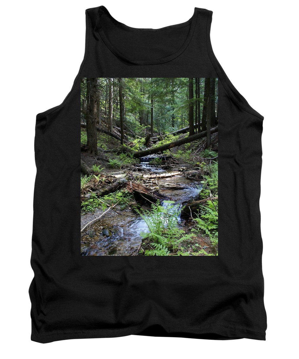 Nature Tank Top featuring the photograph High On Mt. Spokane by Ben Upham III