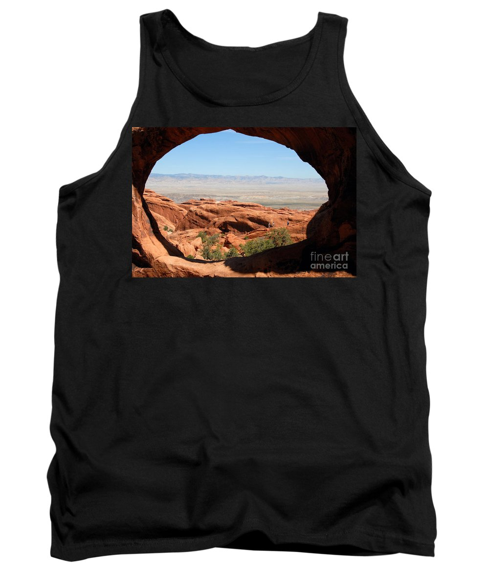 Arches National Park Utah Tank Top featuring the photograph Hiking Through Arches by David Lee Thompson