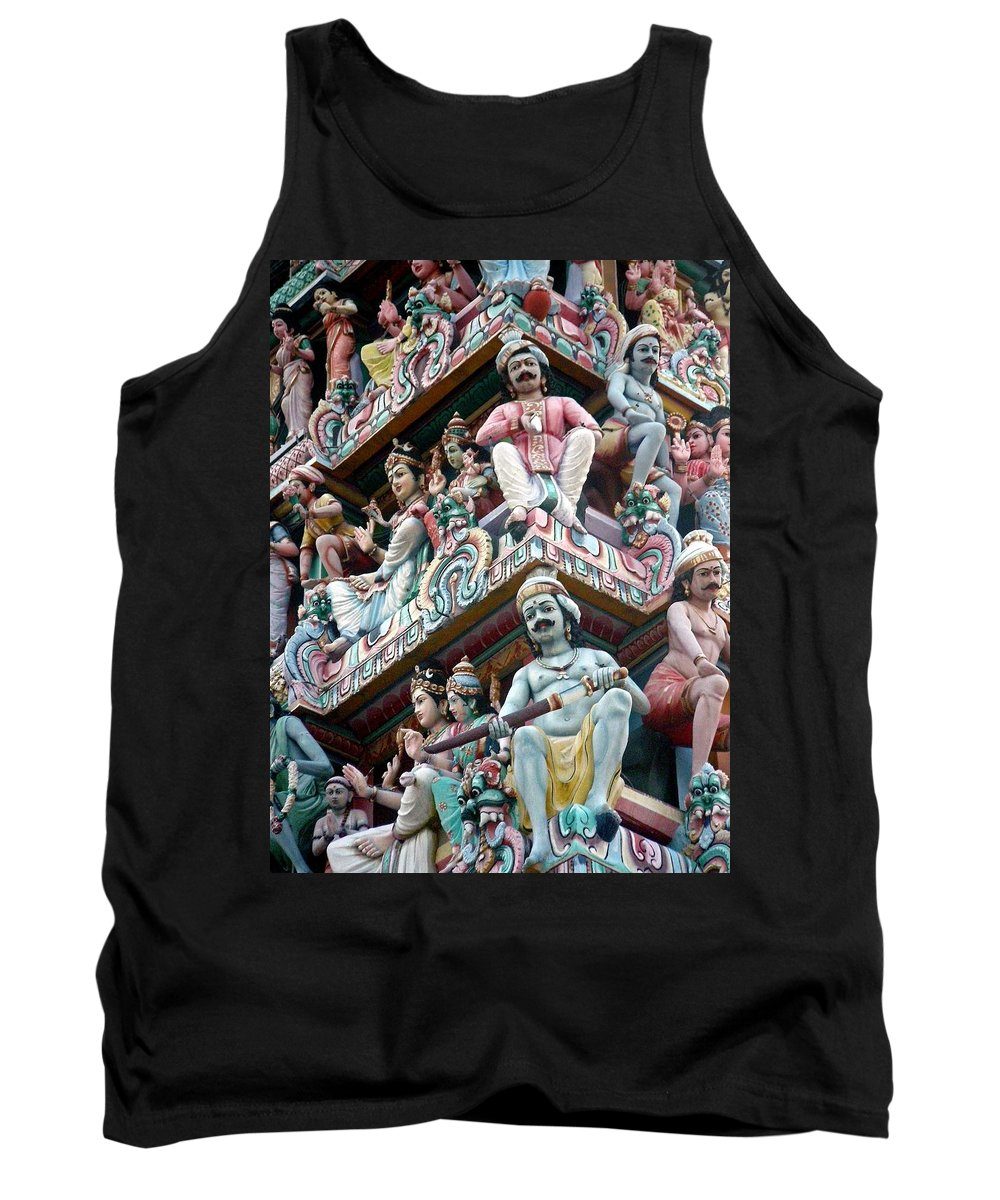 Hindu Temple Tank Top featuring the photograph Hindu Temple Little India Singapore by Mark Sellers