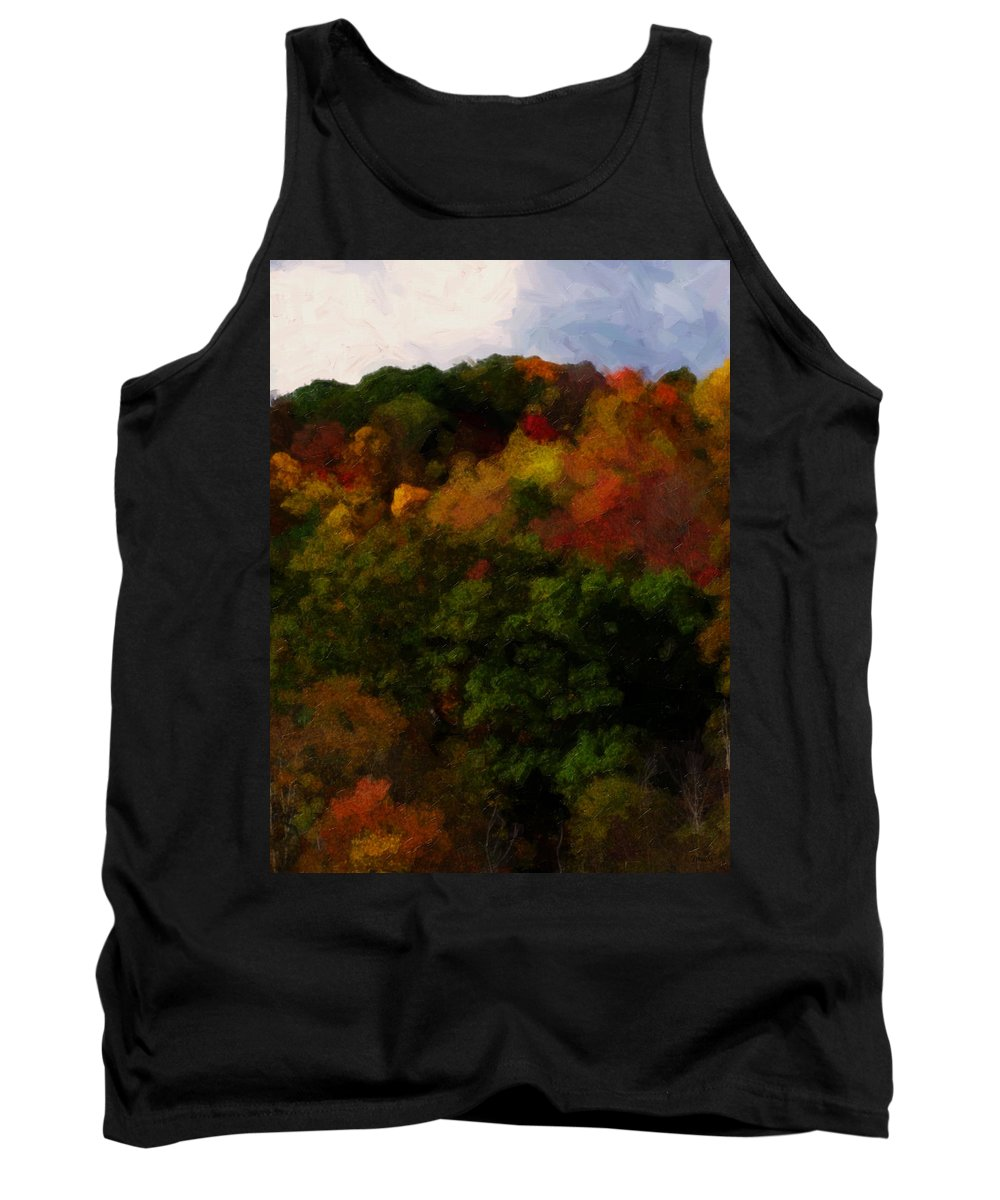 Fall Tank Top featuring the painting Hint Of Fall Color Painting by Teresa Mucha