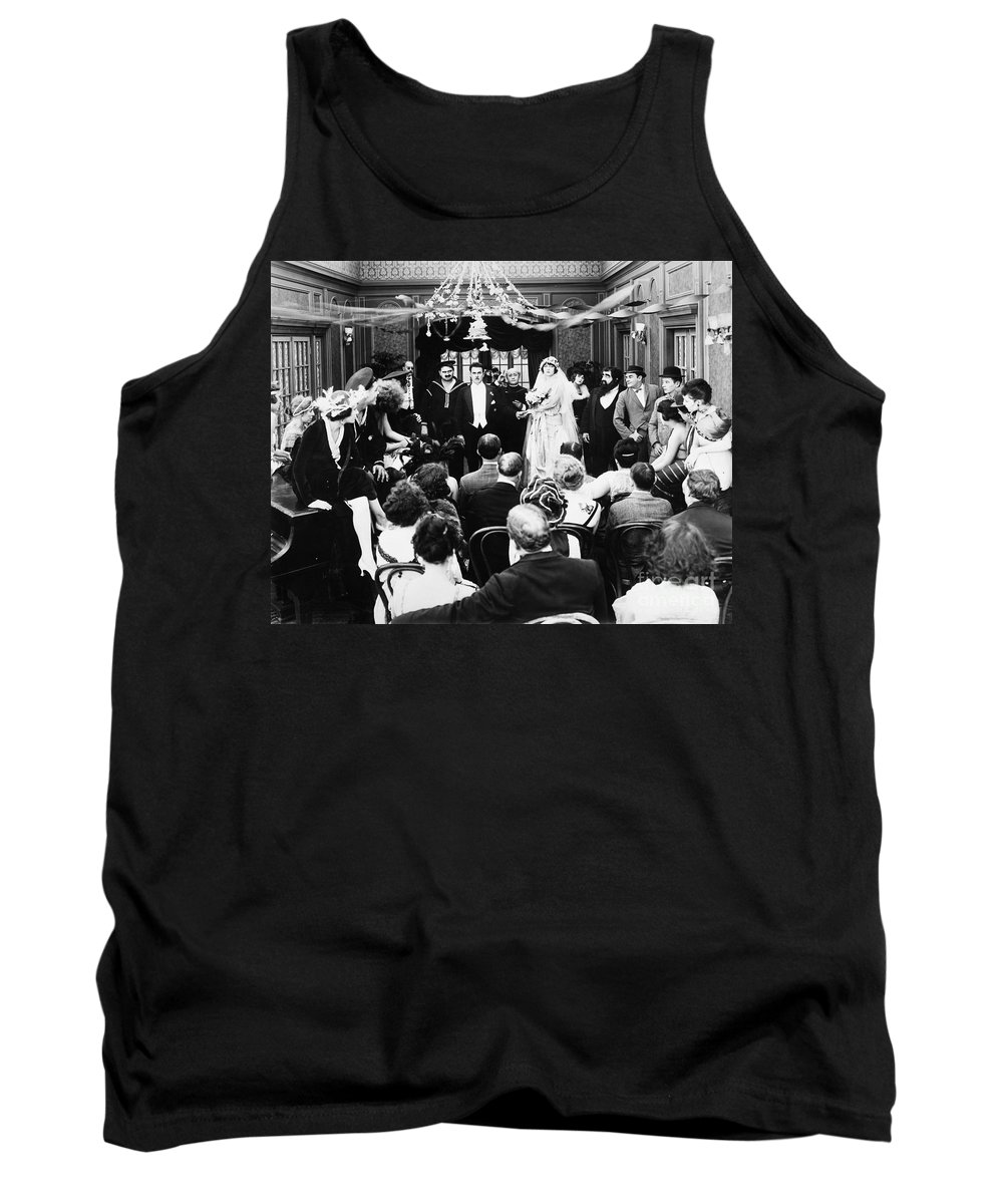 -weddings & Gowns- Tank Top featuring the photograph His Last False Step, 1919 by Granger