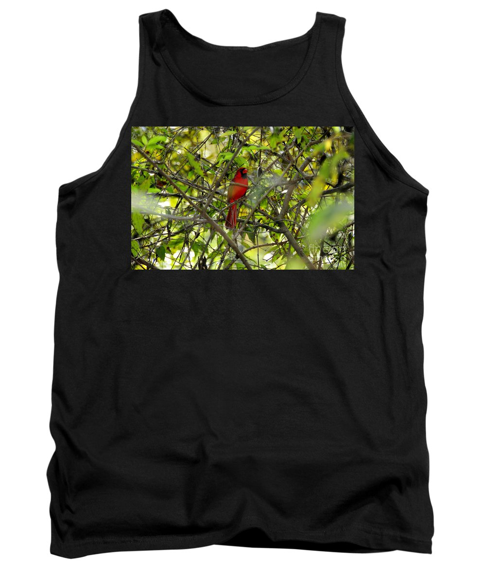 Red Tank Top featuring the photograph His Majesty by David Lee Thompson