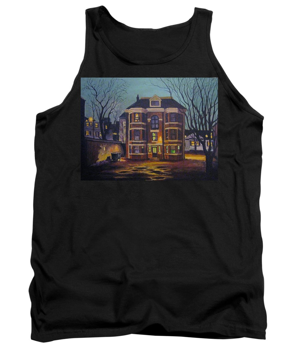 Moody Tank Top featuring the painting Historic Property South End Haifax by John Malone