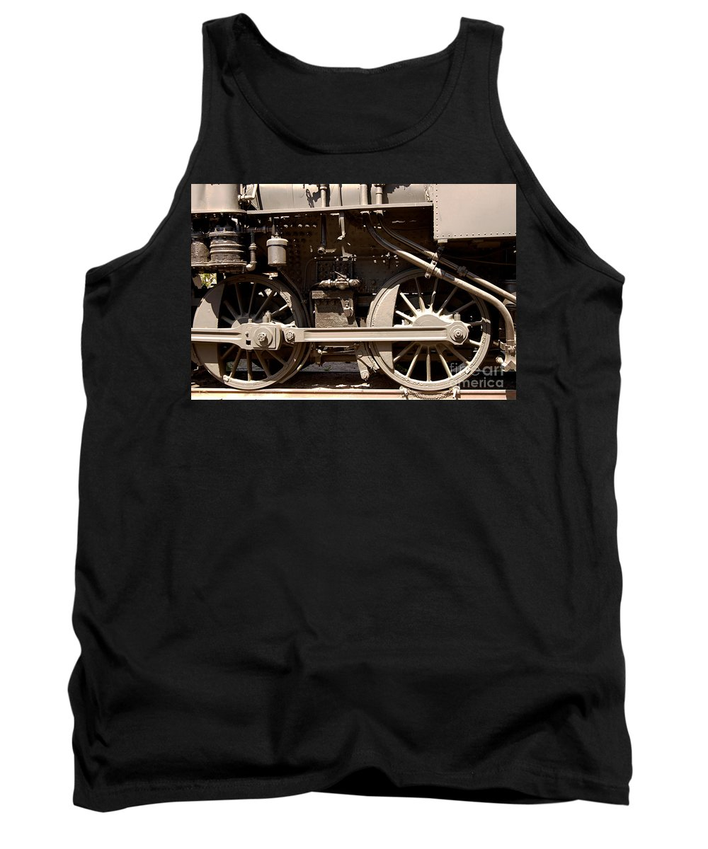 Clay Tank Top featuring the photograph Historic Trains by Clayton Bruster