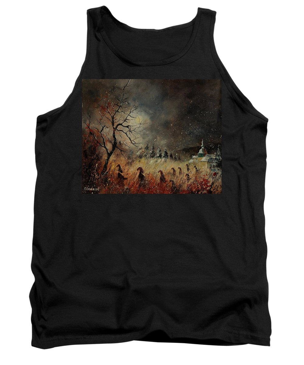 Phantasy Tank Top featuring the painting Hobglobins At Night by Pol Ledent