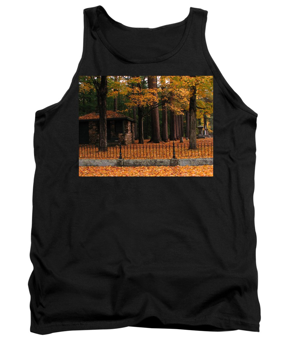 Cemetery Tank Top featuring the photograph Holderness Cemetery by Michael Mooney