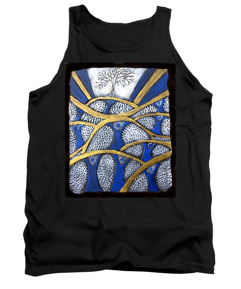 Tree Tank Top featuring the painting Holding Up The Family Tree by Wayne Potrafka