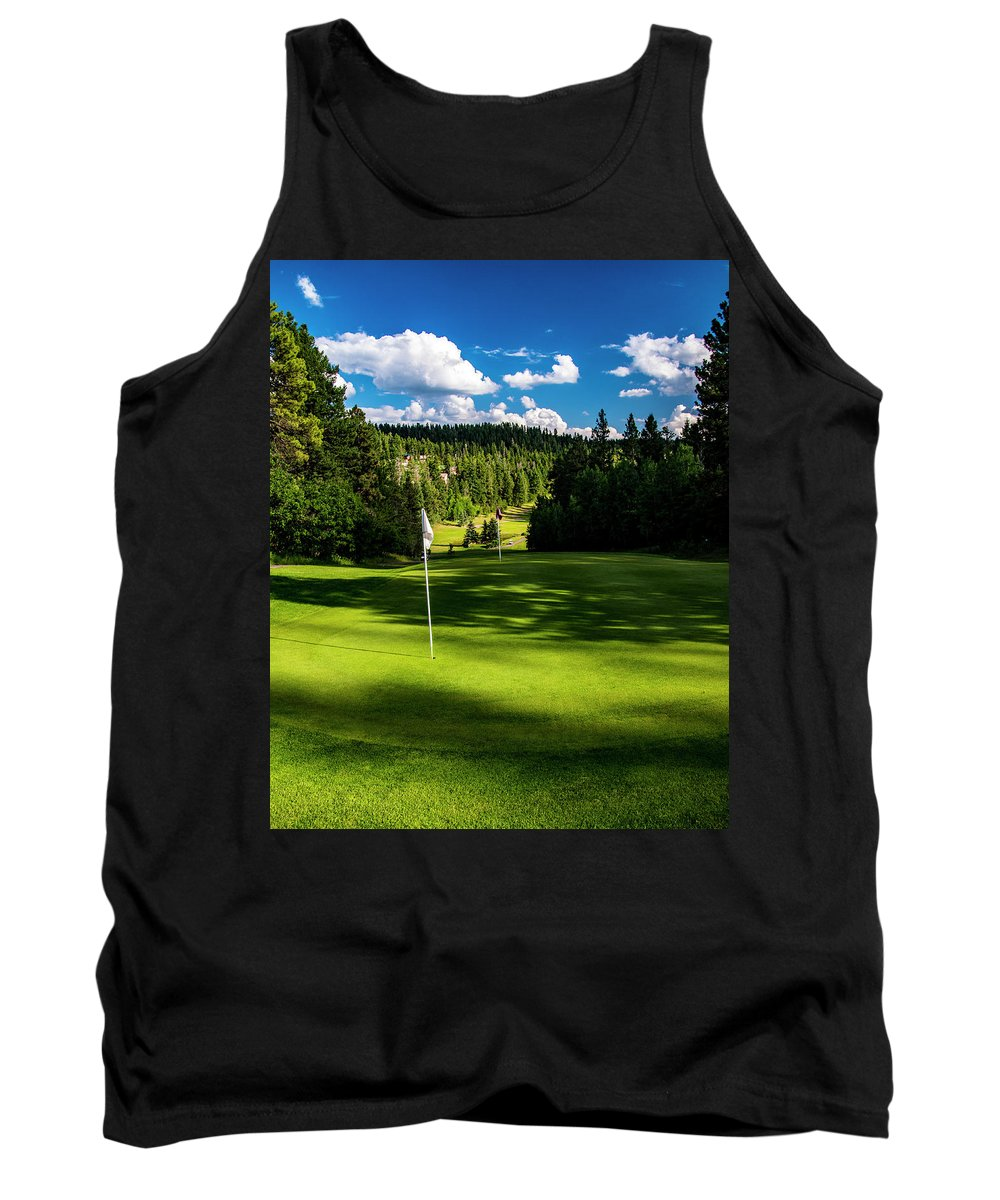 Golf Tank Top featuring the photograph Hole #9 by Ed Ostrander