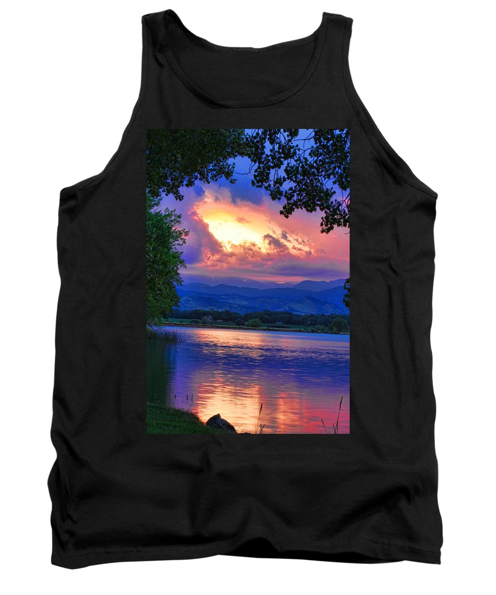 Sunsets Tank Top featuring the photograph Hole In The Sky Sunset by James BO Insogna