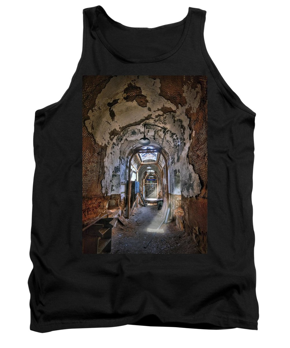 Abandoned Tank Top featuring the photograph Holes In The Walls by Evelina Kremsdorf