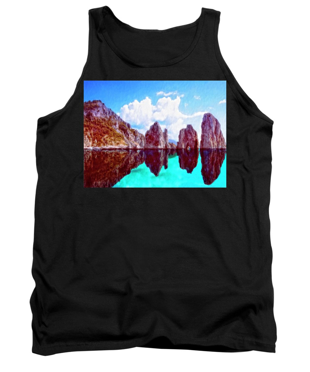 Honah Lee Tank Top featuring the painting Honah Lee by Dominic Piperata