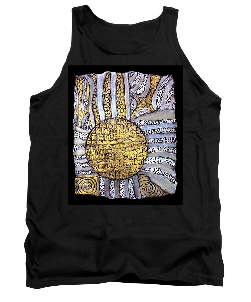 Metal Tank Top featuring the painting Honor To The Sun by Wayne Potrafka