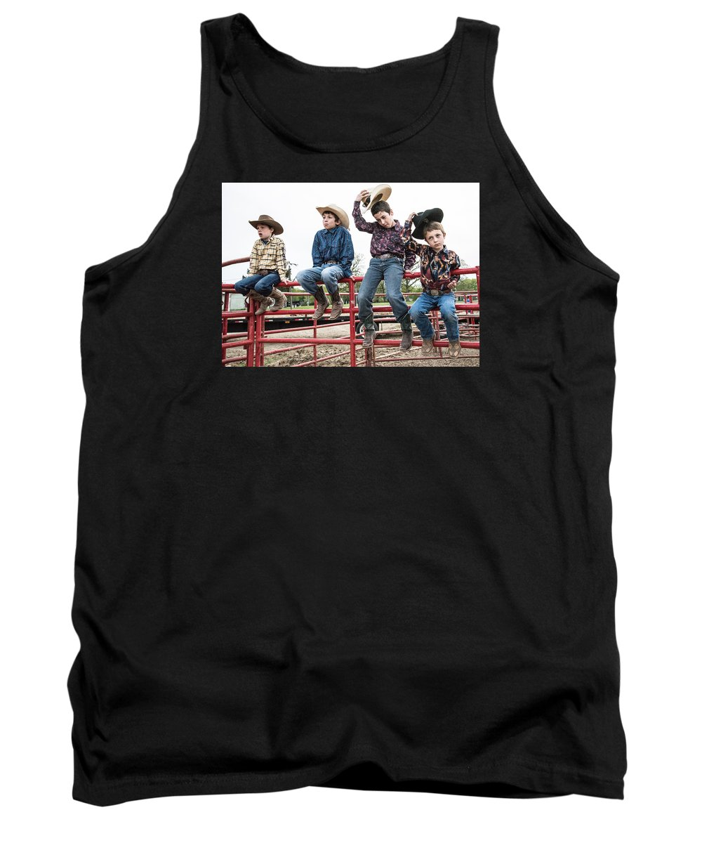 University Of Illinois Rode Club Tank Top featuring the photograph Honoring A Fallen Cowboy by Terry Brown