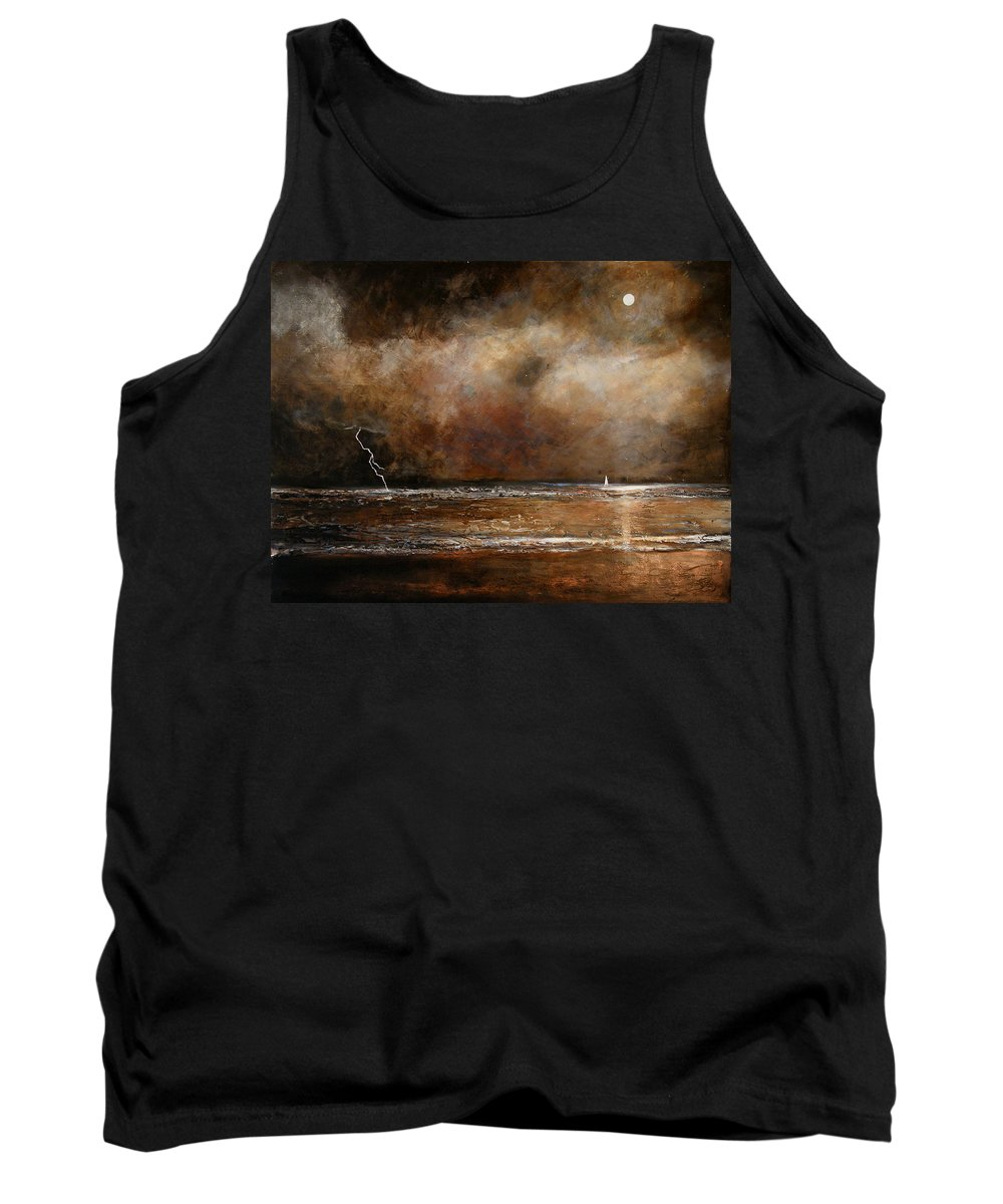 Abstract Tank Top featuring the painting Hope On The Horizon by Toni Grote