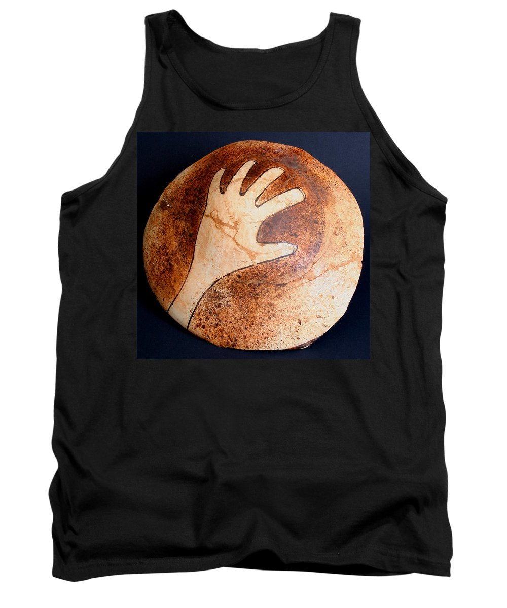 Amerind Tank Top featuring the photograph Hopi Jar Fragment by Joe Kozlowski
