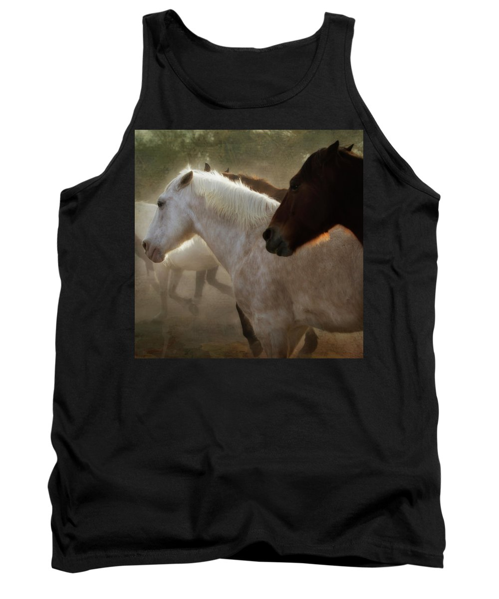 Horses Tank Top featuring the photograph Horses-02 by Susan Kordish