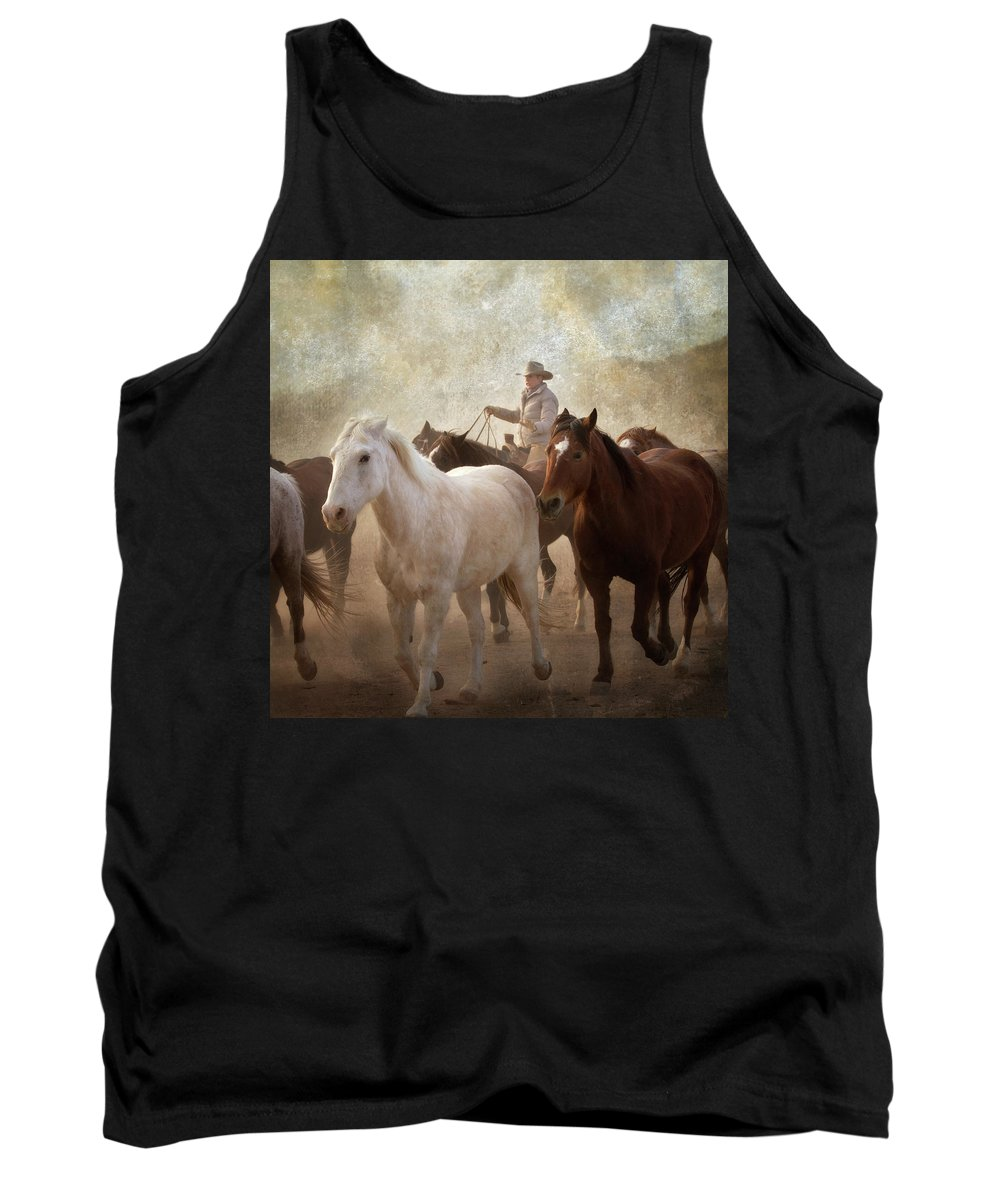 Horses Tank Top featuring the photograph Horses-04 by Susan Kordish
