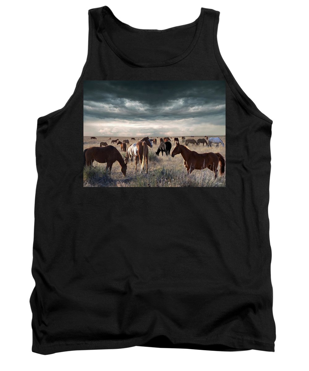Horses Tank Top featuring the digital art Horses Forever by Bill Stephens